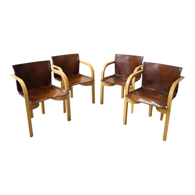 Mid-Century Arm Chairs, Sold as a Set For Sale