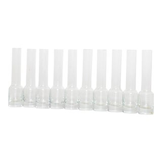 Mid Century Modern Tequila Glass Shots Set of Ten (10) For Sale