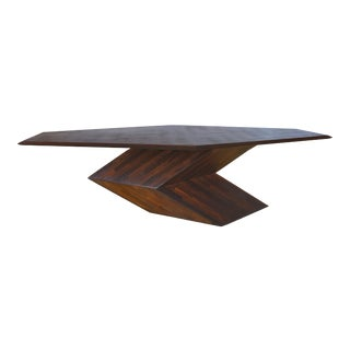 1970s Contemporary Don S. Shoemaker Wood Dining Table For Sale