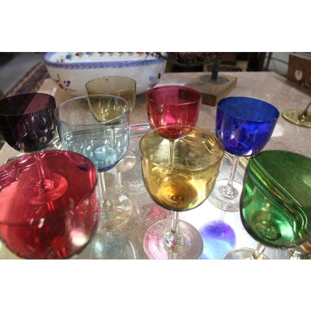 Mid 20th Century Mid 20th Century Rainbow Wine Glasses - Set of 8 For Sale - Image 5 of 7