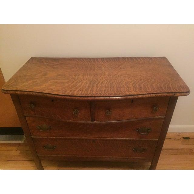 Traditional 1920s Tiger Oak Dresser For Sale - Image 3 of 7