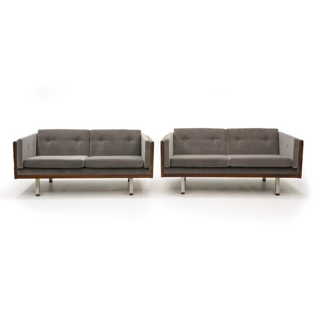 Pair of Case Settees or Loveseats and Chair in Rosewood by Jydsk Møbelværk For Sale - Image 10 of 11
