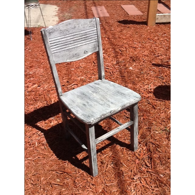 Antique Shabby Chic Chair - Image 2 of 6
