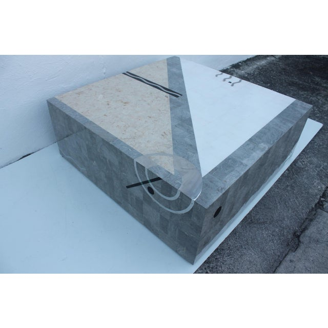 Maitland Smith Tessellated Stone Square Coffee Table - Image 8 of 11