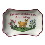 Image of Vintage Chateau De La Chèvre d'Or Eze Village French Limoges Trinket Soap Dish For Sale