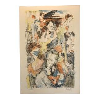 1960s Vintage Richard Bellias Lithograph Print For Sale
