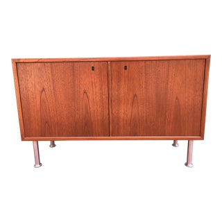 Small Mid-Century Danish Modern Teak Cabinet For Sale