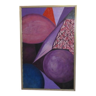 Abstract Oil Painting Signed by Artist For Sale