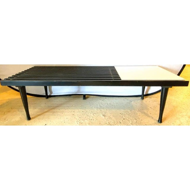 Mid-Century Modern Herman Miller George Nelson Style Coffee Cocktail Table Bench For Sale - Image 4 of 11