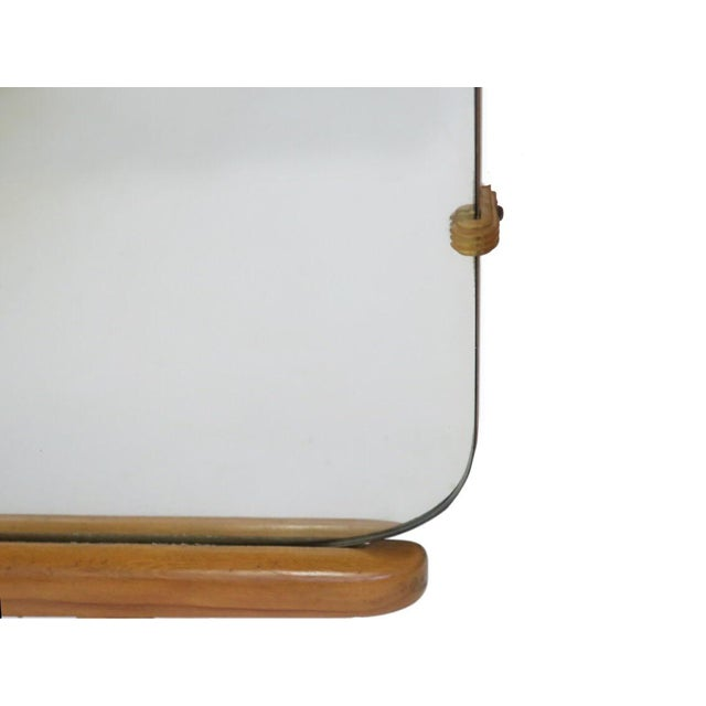 Vintage Mid Century Heywood Wakefield Riviera Vanity With Mirror & Pouff For Sale In Los Angeles - Image 6 of 12