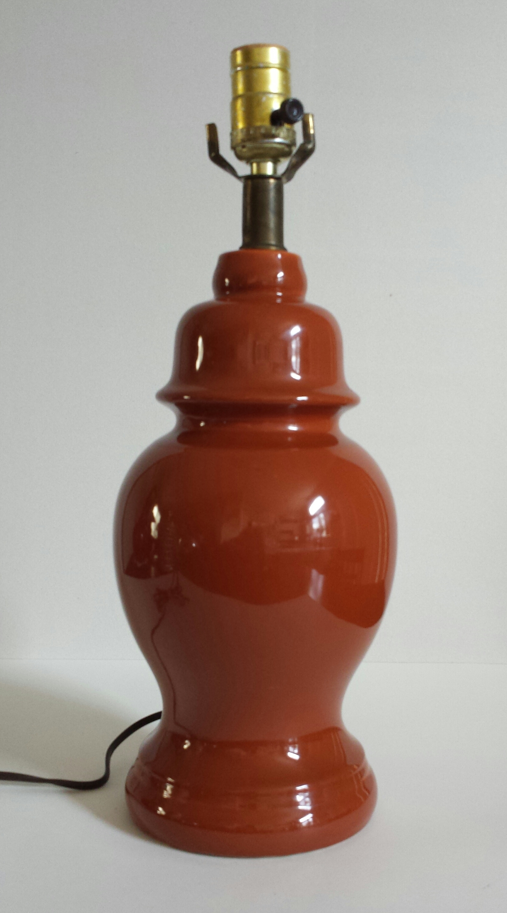 Rust Orange Ginger Jar Table Lamp Chairish