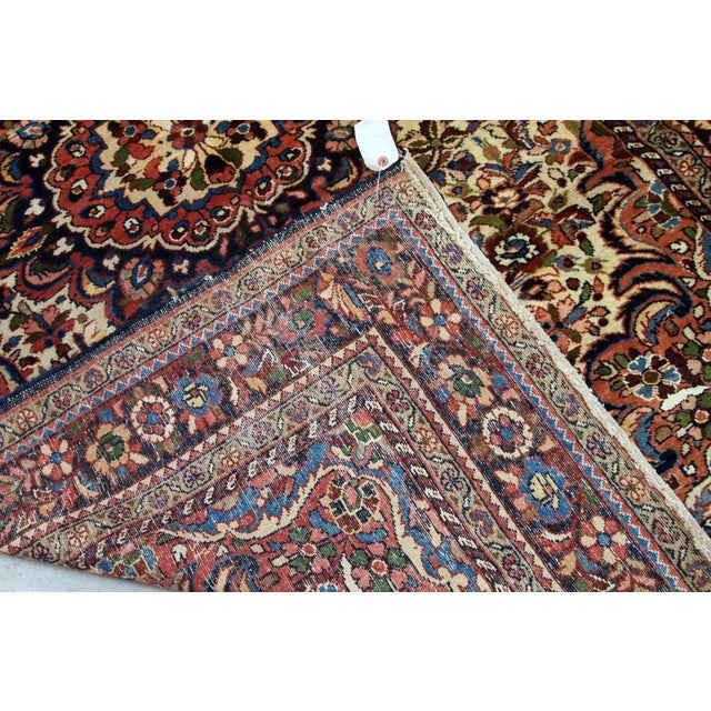 1900s, Handmade Antique Persian Sarouk Rug 3.1' X 5.2' For Sale In New York - Image 6 of 12