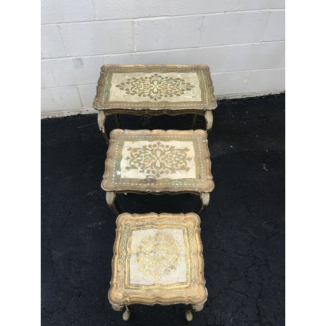 Gold Guilded Nesting Tables - Made in Italy - Image 2 of 10