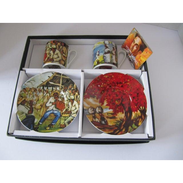 Yoryi Morel Arte de Cafe Limited Collection Cup Saucer Espresso Demitasse Set-4 Pieces For Sale - Image 5 of 5