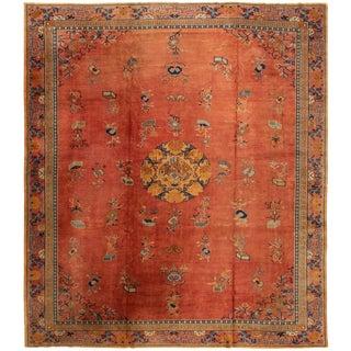 "Apadana-Antique Indo Chinese Rug, 12'0"" X 13'6"""