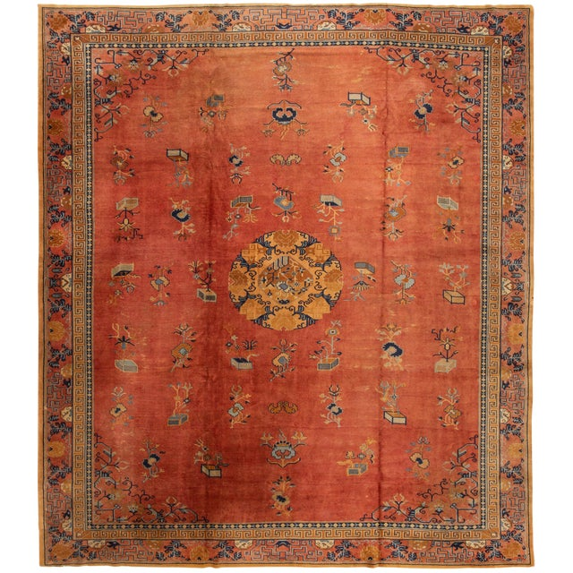 "Apadana-Antique Indo Chinese Rug, 12'0"" X 13'6"" For Sale"