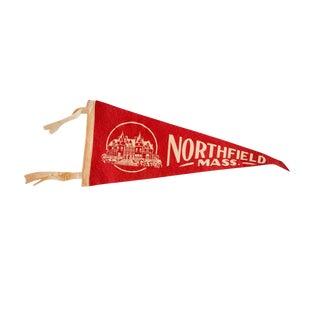 Vintage Northfield, Mass. Felt Flag For Sale