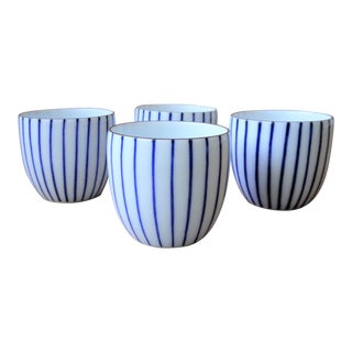 "Japanese ""Guinomi"" Sake or Tea Cups - Set of 4"