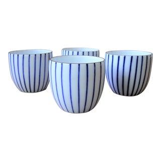 "Vintage Japanese ""Guinomi"" Sake or Tea Cups - Set of 4"