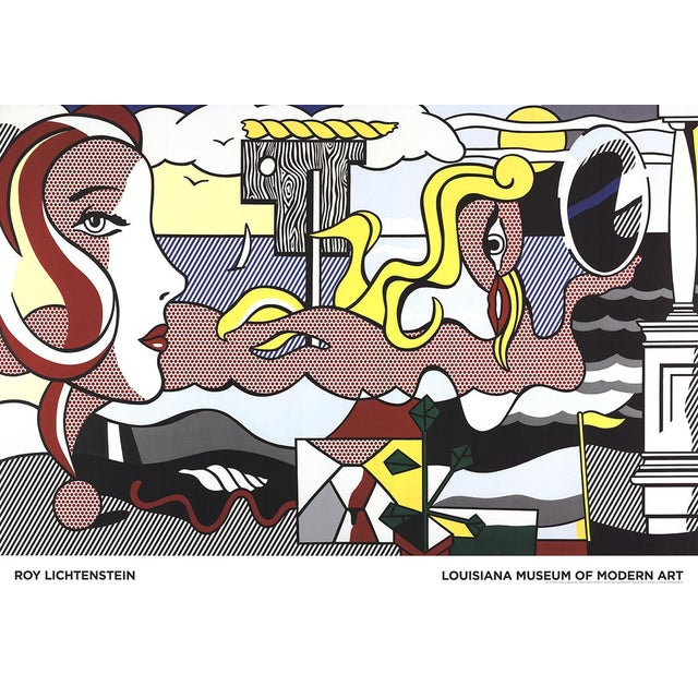 Figurative Roy Lichtenstein, Figures in Landscape For Sale - Image 3 of 3