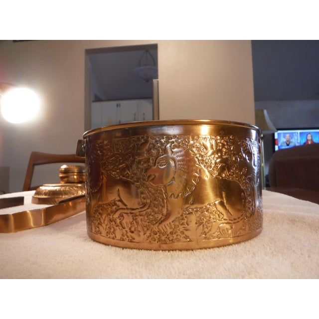 "Vintage Copper Clad ""Tiffin"" or ""Dabba"" - Image 5 of 9"