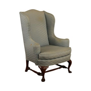 Hickory Chair Vintage Mahogany Queen Anne Wing Chair Frame For Sale