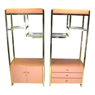 Vintage Shelving Units - a Pair