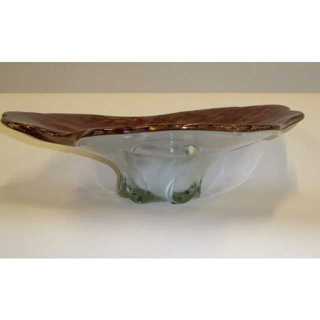 Hollywood Regency Large Murano Mid Century Cased Blown Glass Vessel For Sale - Image 3 of 11