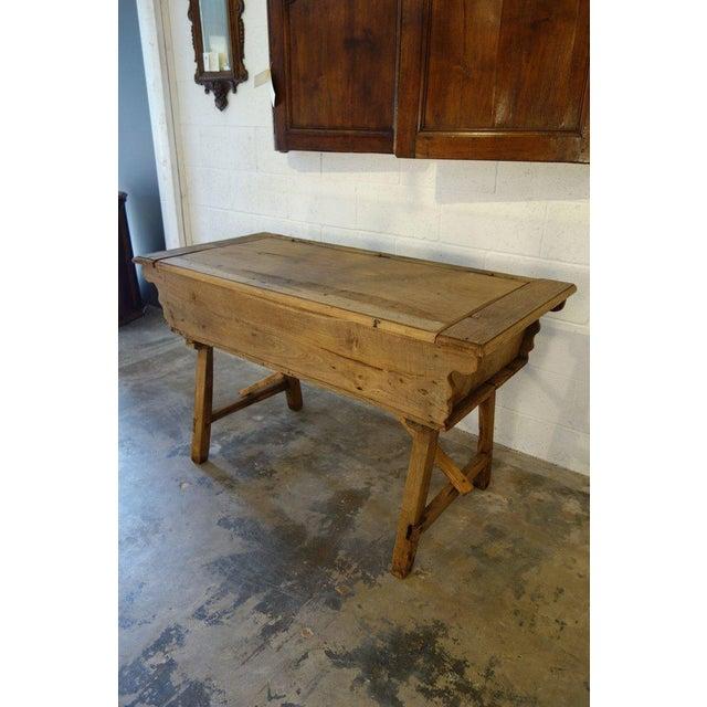 Late 19th Century 19th Century Italian Rustic Tuscan Farmhouse Console Table For Sale - Image 5 of 13