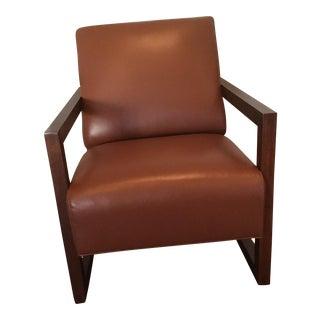 Mid-Century Modern Stickley Flatiron Leather Chair