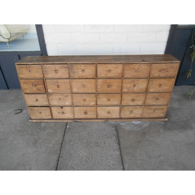 24 Drawer Pine Apothecary Cabinet For Sale In Los Angeles - Image 6 of 10