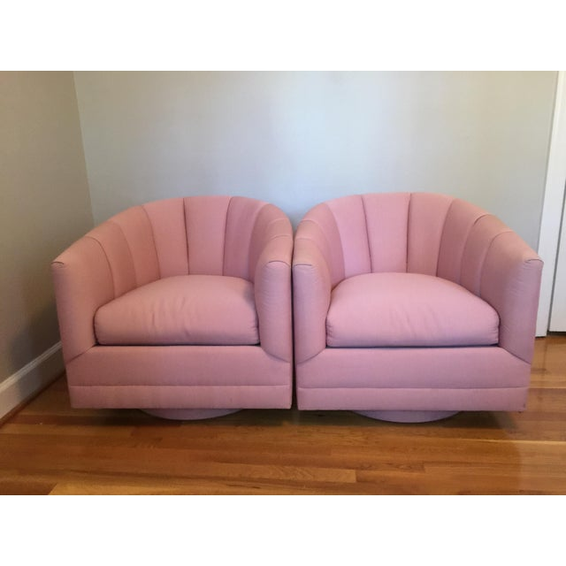 Hollywood Regency Channel Swivel Chairs - A Pair - Image 2 of 11
