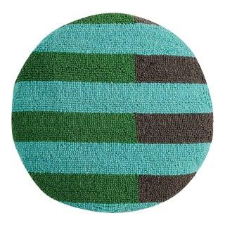 "Cool Geometric Circle Hook Pillow, 16"" Diameter For Sale"