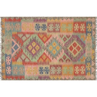 "Nalbandian - Contemporary Afghan Maimana Kilim - 2'7"" X 3'9"" For Sale"