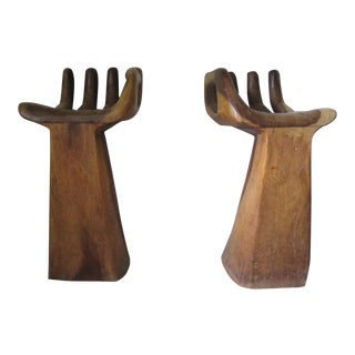 Pedro Freideberg Style Hand Carved Wood Chairs - a Pair For Sale