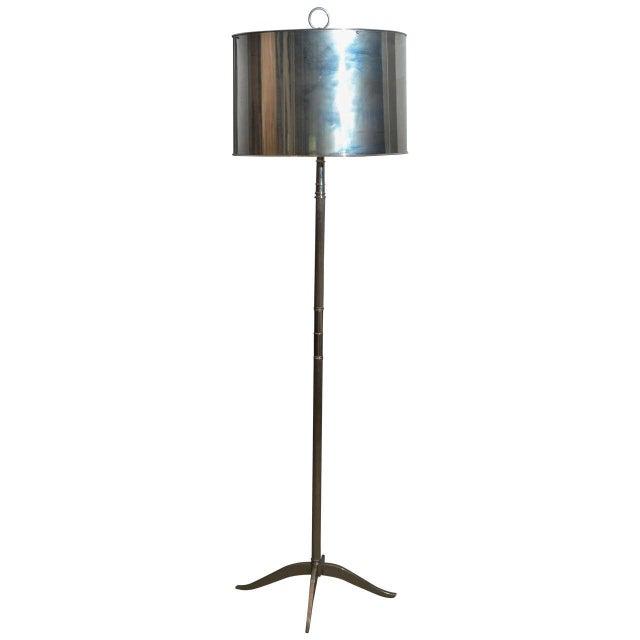 Sleek Modern Nickel Floor Lamp - Image 1 of 6