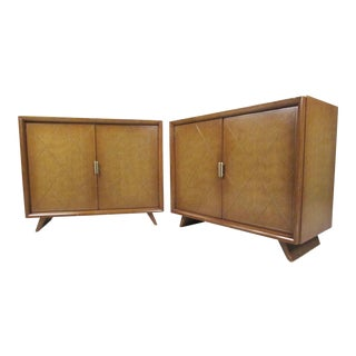 Pair of Mid-Century Tommi Parzinger Bedroom Chests For Sale