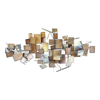 C Jere Artisan House Mid Century Style Metal Wall Art For Sale