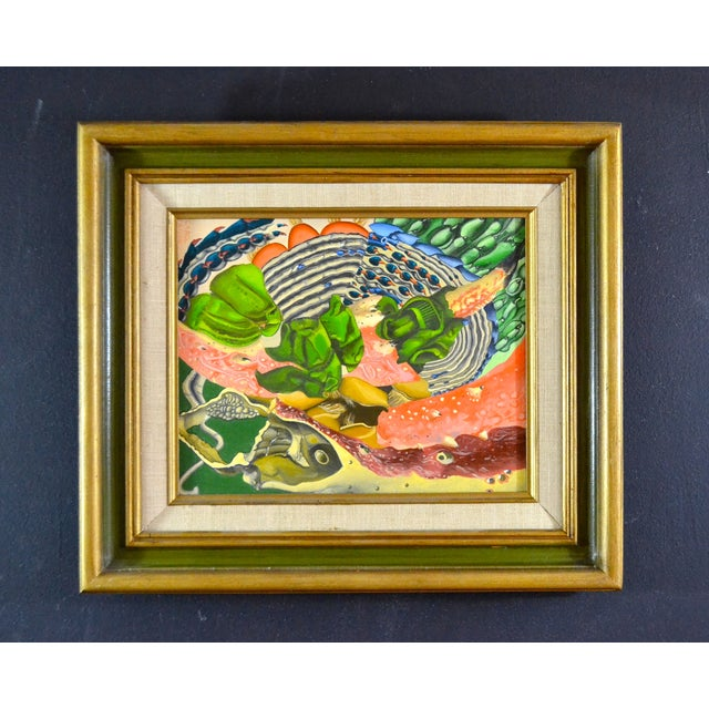 Abstract Sea Theme Framed Oil Painting - Image 3 of 7