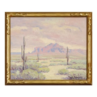 """""""Superstition Mountains"""" Oil Painting by Paul Conner For Sale"""