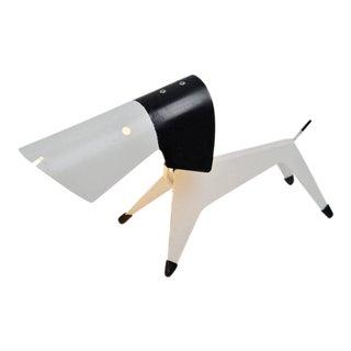 Jean Boris LaCroix dog lamp Disderot 1950 For Sale