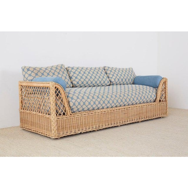 Contemporary McGuire Organic Modern Rattan and Wicker Daybed Sofa For Sale - Image 3 of 13