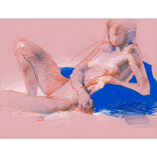 """""""Figure 11"""" Contemporary Abstract Figurative Mixed-Media Drawing by David Orrin Smith For Sale"""