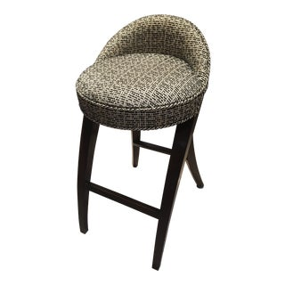 Mid-Century Modern Black and White Barstool For Sale
