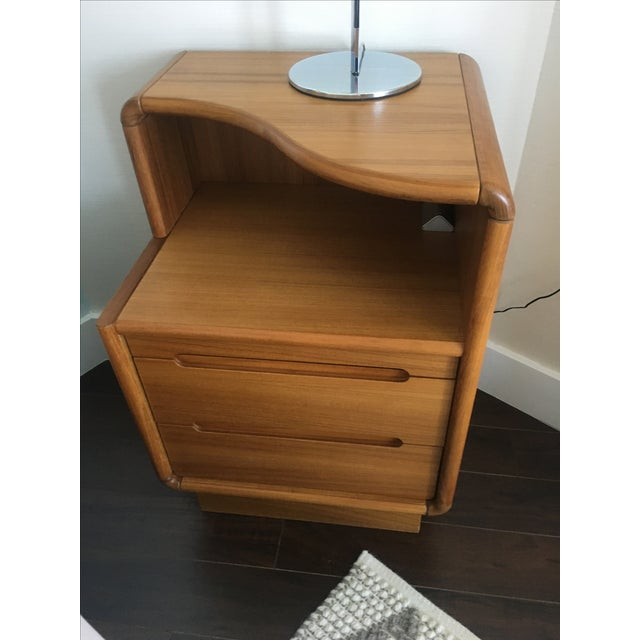 Contemporary Teak Nightstands - A Pair - Image 6 of 8