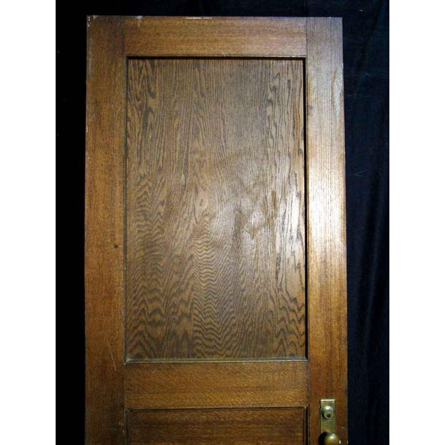 Reclaimed Antique Oak Veneer Door - Image 9 of 10