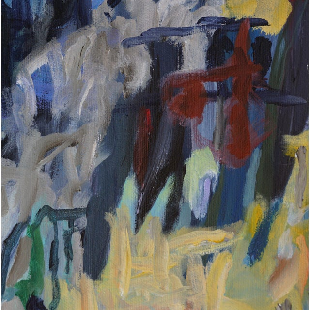 """Laurie MacMillan Laurie MacMillan """"Great Outdoors"""" Abstract Painting, Framed For Sale - Image 4 of 6"""