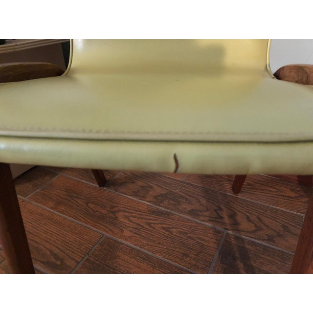 Green Johannes Andersen Style Mid-Century Danish Teak Chairs - a Pair For Sale - Image 8 of 9