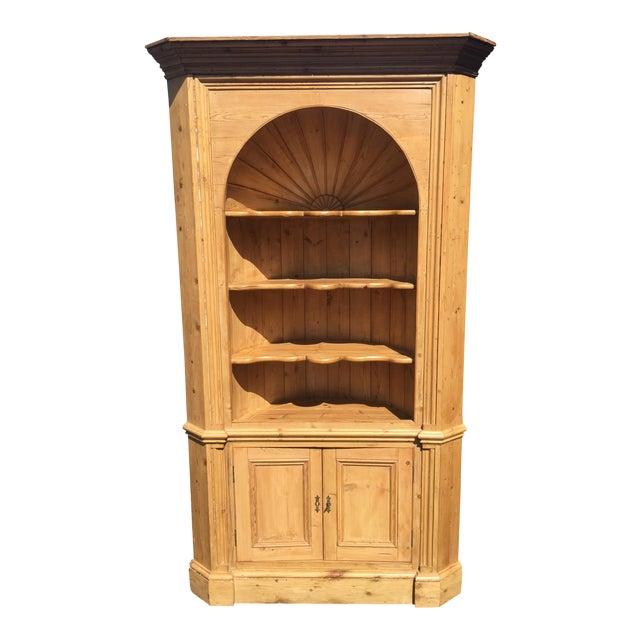 Huge Charles & Charles Antique English Pine Corner Cabinet For Sale