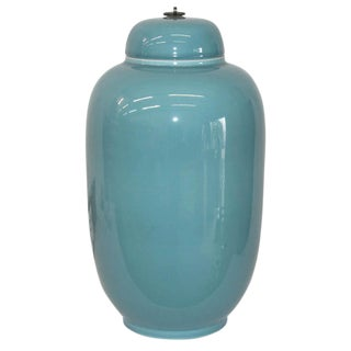 Contemporay Baby Blue Glazed Ginger Jar